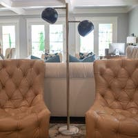 Morris Marble and Metal 2-light Floor Lamp