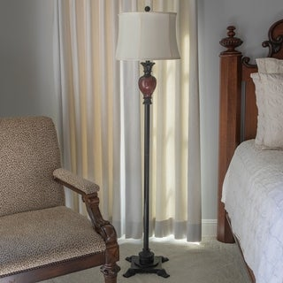 "Louise 66.5"" Traditional Carved Floor Lamp"