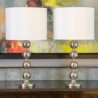 Set of 2 Sadie Stacked Ball Table Lamps