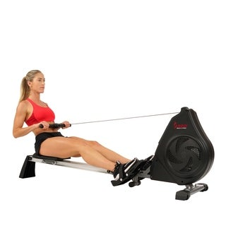 Sunny Health & Fitness Air Magnetic Rower With Aluminum Slide Rail
