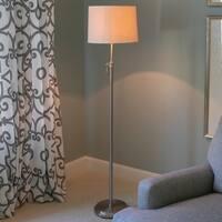 Henry Steel/Fabric Shade Adjustable Floor Lamp