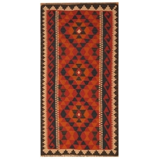 Handmade Mimana Wool Kilim (Afghanistan) - 3'4 x 6'2