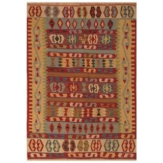 Handmade Anatolia Wool Kilim (Turkey) - 3'7 x 5'