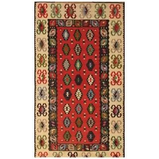 Handmade Anatolia Wool Kilim (Turkey) - 3'6 x 6'