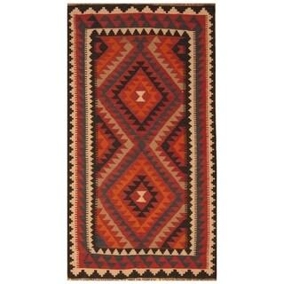 Handmade Mimana Wool Kilim (Afghanistan) - 3'5 x 6'4