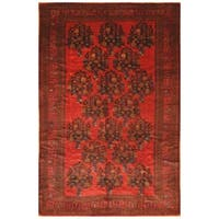 Handmade Herat Oriental Afghan Hand-knotted Semi-Antique Balouchi 1960's Wool Rug  (7' x 10'5) - 7' x 10'5