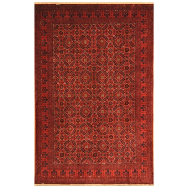 Handmade Khal Mohammadi Belgian Wool Rug (Afghanistan) - 6'5 x 9'9