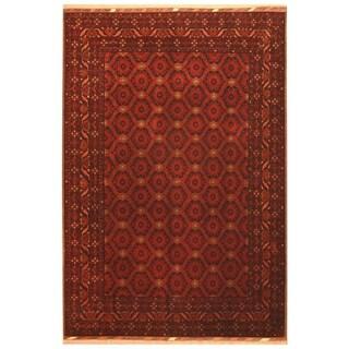 Handmade Herat Oriental Afghan Hand-knotted Khal Mohammadi Belgian Wool Rug (6'8 x 9'9) - 6'8 x 9'9