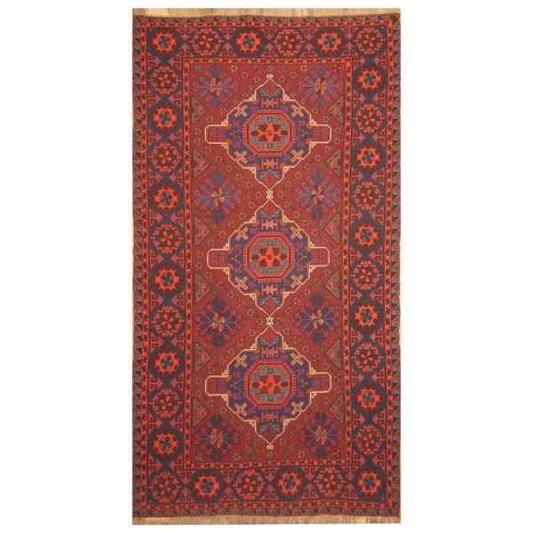 Handmade Soumak Kazak Wool Kilim (Azerbaijan) - 5'10 x 11'1