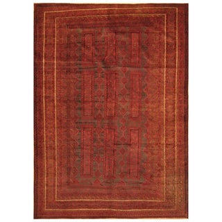 Handmade Herat Oriental Afghan Hand-knotted Semi-Antique Balouchi 1960's Wool Rug (6'10 x 9'3) - 6'10 x 9'3