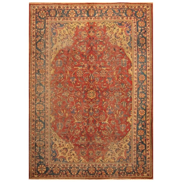 Hand Knotted Persian Isfahan Wool Area Rug: Shop Handmade Herat Oriental Persian Hand-knotted Antique