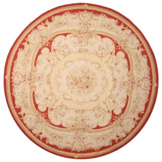 Handmade Sino Aubusson Flatweave Wool Rug - 14' x 14'