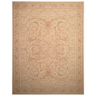 Handmade Sino Aubusson Flatweave Wool Rug - 11'6 x 15'3
