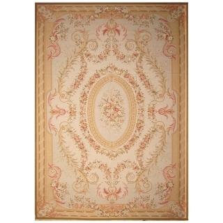 Handmade Sino Aubusson Flatweave Wool Rug - 12'4 x 17'8