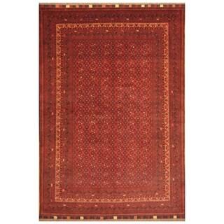 Handmade Herat Oriental Afghan Hand-knotted Khal Mohammadi Belgian Wool Rug (6'6 x 9'8) - 6'6 x 9'8