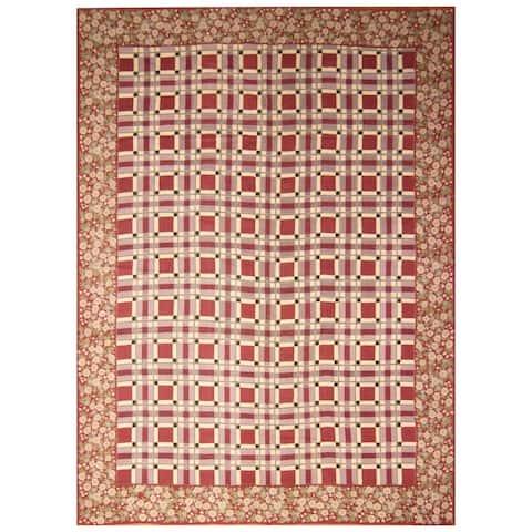 Handmade One-of-a-Kind Sino Needlepoint Wool Rug - 10' x 14'