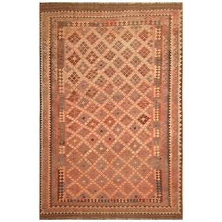 Handmade Mimana Wool Kilim (Afghanistan) - 8'2 x 12'