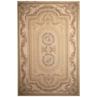 Handmade Sino Aubusson Flatweave Wool Rug - 12' x 18'2