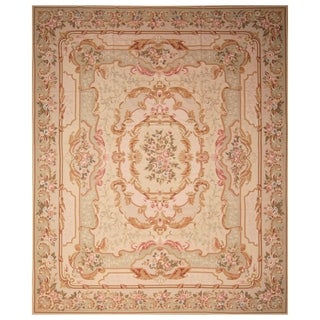 Handmade Sino Aubusson Flatweave Wool Rug - 12' x 15'