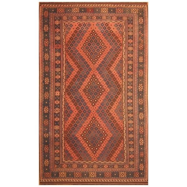 Handmade Mimana Wool Kilim (Afghanistan) - 8'2 x 13'6