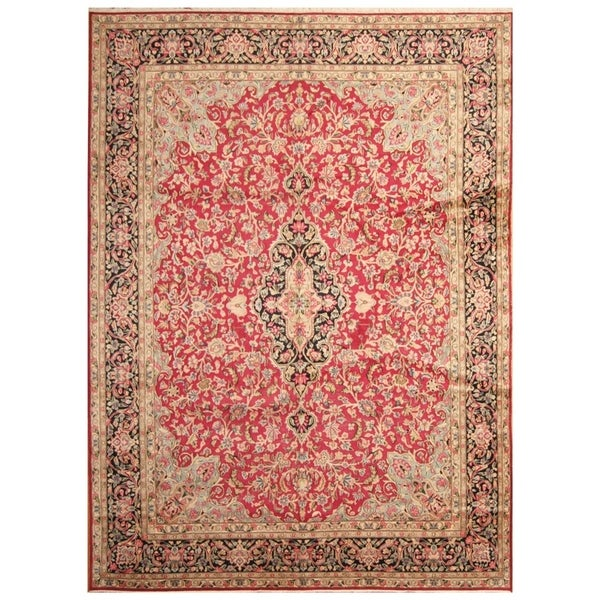 Handmade Kerman Wool Rug (Iran) - 9'10 x 13'5