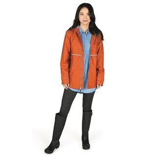 Charles River Women's Englander Rain Jacket, Orange