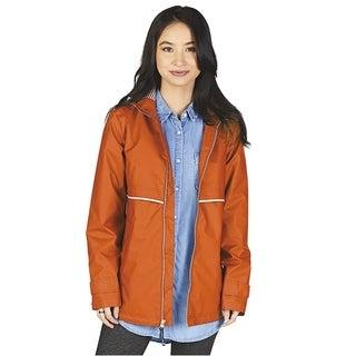 Charles River Women's Englander Rain Jacket, Orange
