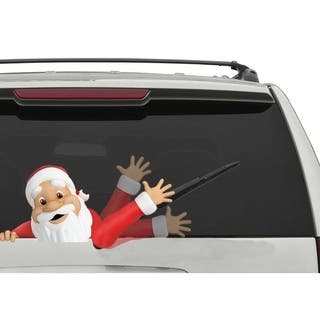 Rear Vehicle Car Window Moving Animated Wiper Blade Tag Decal - Windshield Decal