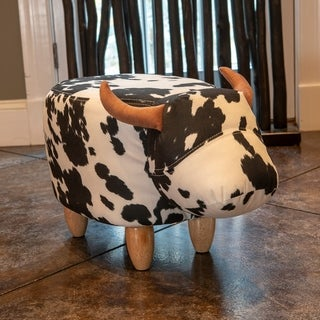 Black and White Cow Stool
