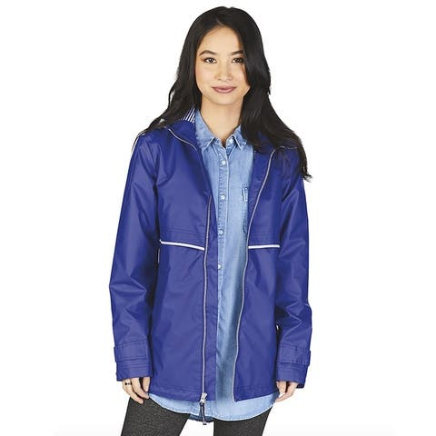 Charles River Women's Englander Rain Jacket, Royal