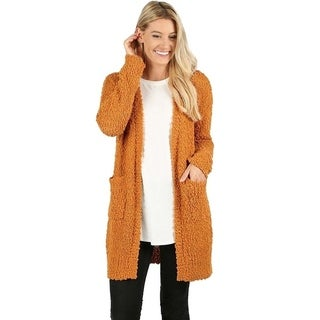 JED Women's Popcorn Knit Cardigan Sweater