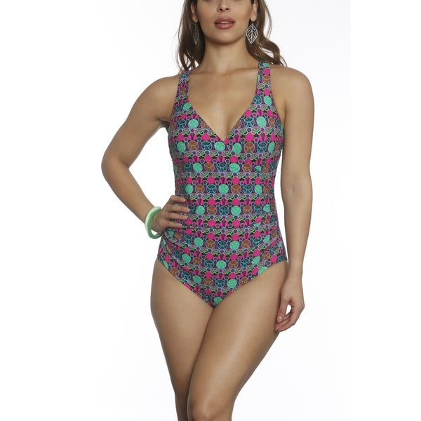 Betty's Beach Bungalow Front Cross Over One Piece