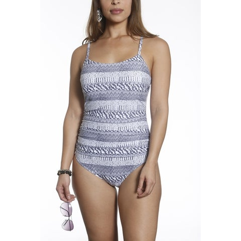 Betty's Beach Bungalow Front Shirring Thin Strap Maillot One Piece