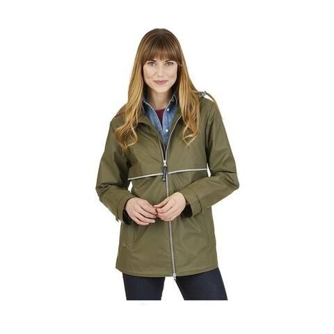 Charles River Women's Englander Rain Jacket, Olive