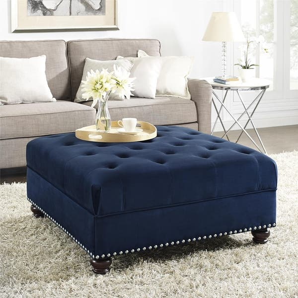 Astounding Shop Dorel Fine Furnishings Charlize Tufted Ottoman Free Machost Co Dining Chair Design Ideas Machostcouk
