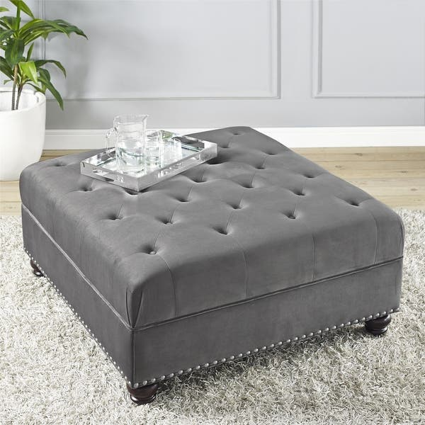 Miraculous Shop Dorel Fine Furnishings Charlize Tufted Ottoman Free Pabps2019 Chair Design Images Pabps2019Com