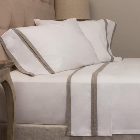 Bella Banded Pillowcase Pair