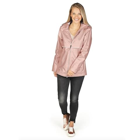 Charles River Women's Englander Rain Jacket, Rose Gold