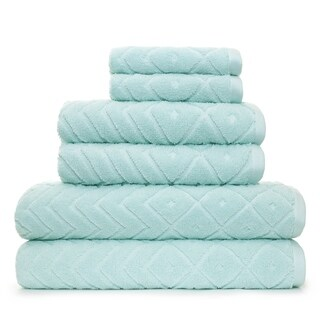 Mabel Textured 6 Piece Bath Towel Set