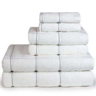 Kempster Stitch Design 6 Piece Bath Towel Set