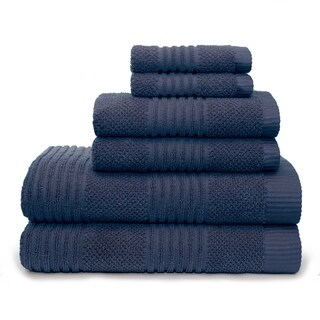 Dillon Textured 6 Piece Bath Towel Set