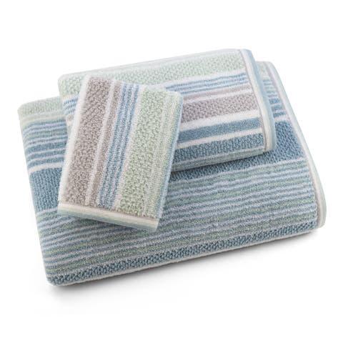 Sapphire Resort Trimont Textured Stripe - 3 Piece Towel Set