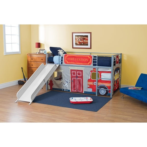 Shop Dhp Junior Themed Twin Loft Bed With Slide And