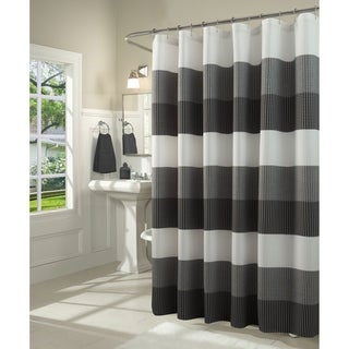 Link to Dainty Home Ombre Waffle Weave Fabric Shower Curtain Similar Items in Shower Curtains