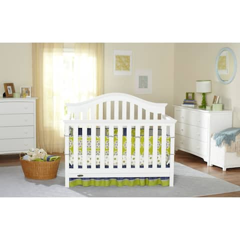 Graco Bryson 4 in 1 Convertible Crib with Adjustable Height Mattress and Converts to Toddler Bed & Day Bed