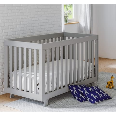 Storkcraft Beckett 3-in-1 Convertible Pine Wood Crib with Adjustable Height Mattress and Converts to Toddler Bed & Day Bed
