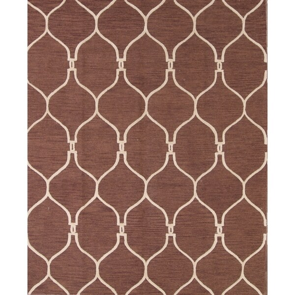 """Traditional Hand Made Moroccan Trellis Oriental Area Rug - 8'0"""" x 10'0"""""""