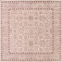 """Hand Tufted Traditional Oushak Kashan Floral Oriental Area Rug - 10'0"""" x 9'9"""" square"""
