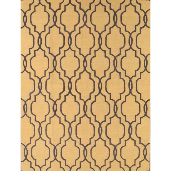 Oushak Agra Oriental Hand Tufted Wool Floral Area Rug - 8' X 11'