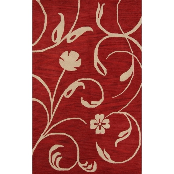 """Oushak Traditional Hand Made Agra Oriental Floral Area Rug - 7'10"""" x 4'11"""""""
